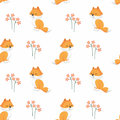 Cute fox pattern