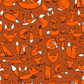Cute foxes seamless pattern for your design