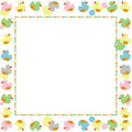 Cute frame for children made with ducks vector Royalty Free Stock Image
