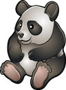 Cute Friendly Panda Vector Ill Stock Photo