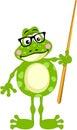 Cute frog teacher