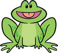 Cute frog vector illustration Royalty Free Stock Photos