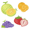 Cute fruit collection02 Royalty Free Stock Images