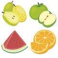 Cute fruit collection05 Royalty Free Stock Image