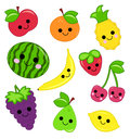 Cute fruit illustration of with white background Royalty Free Stock Photography