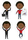 Cute and funny African-American businessmen Royalty Free Stock Photo