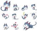 Cute and funny cartoon kitten cat character mascot Royalty Free Stock Photo