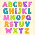 Cute funny childish alphabet Royalty Free Stock Photo