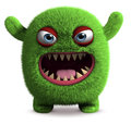 Cute furry monster Royalty Free Stock Photography