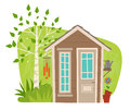 Cute Garden Shed Royalty Free Stock Photo