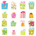 Cute gift box vector Royalty Free Stock Photos