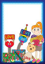 Cute Gift Love Frame_eps Stock Images