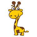 Cute giraffe cartoon T-Shirt design vector