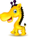 Cute giraffe cartoon vector illustration of Stock Image