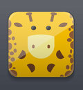 Cute giraffe icon vector illustration background Stock Image
