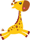 Cute giraffe illustration of a Stock Photo