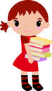Cute girl and book Royalty Free Stock Photo