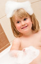 Cute girl in bubble bath Royalty Free Stock Images