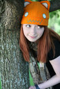 Cute girl with freckles and hat Royalty Free Stock Photos