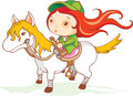 Cute girl jockey Royalty Free Stock Photography