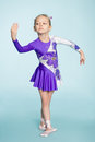 Cute girl seven years dancing Royalty Free Stock Photo