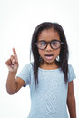 Cute girl shaking finger saying no to the camera Royalty Free Stock Photo