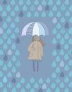 Cute girl with an umbrella