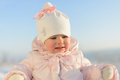 Cute Girl in Winter Royalty Free Stock Photo