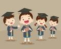 Cute graduation students