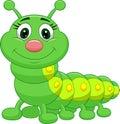 Cute green caterpillar cartoon Royalty Free Stock Photo