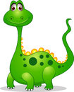 Cute green dinosaur cartoon Stock Image