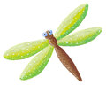 Cute green Dragonfly Royalty Free Stock Image