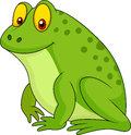 Cute green frog cartoon illustration of Royalty Free Stock Photos