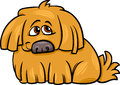 Cute hairy dog cartoon illustration of Royalty Free Stock Photography