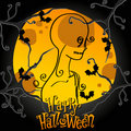 Cute Halloween illustration Royalty Free Stock Photo