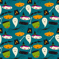 Cute Halloween Seamless Vector Pattern Stock Image