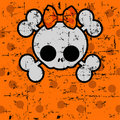 Cute Halloween Skull with bow Royalty Free Stock Photos
