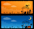 Cute Halloween theme banners Royalty Free Stock Photography
