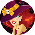 Cute Halloween witch portrait Royalty Free Stock Photo