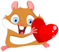Cute hamster valentine Stock Images