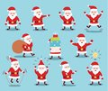 Cute hand drawn Christmas holiday characters collection. Vector eps10. Royalty Free Stock Photo