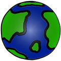 Cute Hand Drawn Earth Illustration Royalty Free Stock Photography
