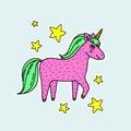Cute handdrawn unicorn.