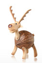 Cute handicraft wooden deer piggy bank Royalty Free Stock Image