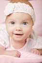 Cute happy baby portrait with big eyes Stock Image