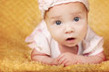Cute happy baby portrait with big eyes Royalty Free Stock Photos