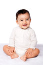 Cute happy baby sitting Royalty Free Stock Photo