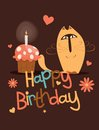 Cute happy birthday card. Royalty Free Stock Photo