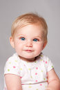 Cute happy blue eyed baby face Royalty Free Stock Photo