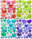 Cute Heart Set Stock Image